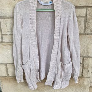 Anthropologie Sparrow Sz Med Pink Shrug Swtr